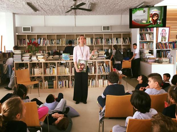 """Η """"Σκουφοκοκκινίτσα"""" στα εκπαιδευτήρια Κωστέα-Γείτονα."""